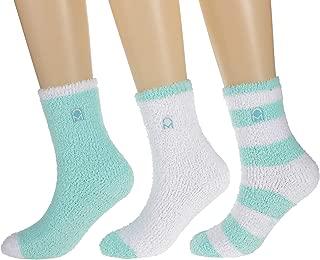 Women's (3 Pairs) Soft Anti-Skid Fuzzy Winter Crew Socks