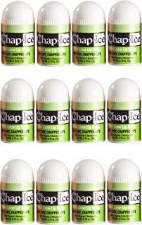 Chap-Ice | Mini Lip Balm - with Vitamin E and Moisturizers - Soothes, Moisturizes, Protects - 12 Count (Kiwi-Lime)