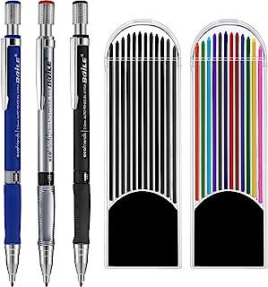 comprar comparacion 3 Piezas 2.0 mm Lápiz Mecánico con 2 Cajas de Minas, Recambios de Color y Negros para Dibujo, Escritura, Manualidades, Bos...