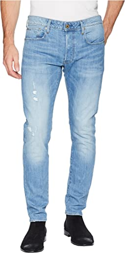3301 Slim Jeans in Light Aged Heavy Stone Rider Stretch Denim