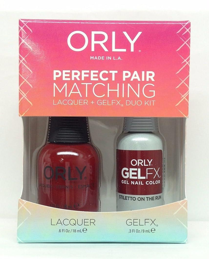上院議員痛み表面Orly Lacquer + Gel FX - Perfect Pair Matching DUO Kit - Stiletto On The Run