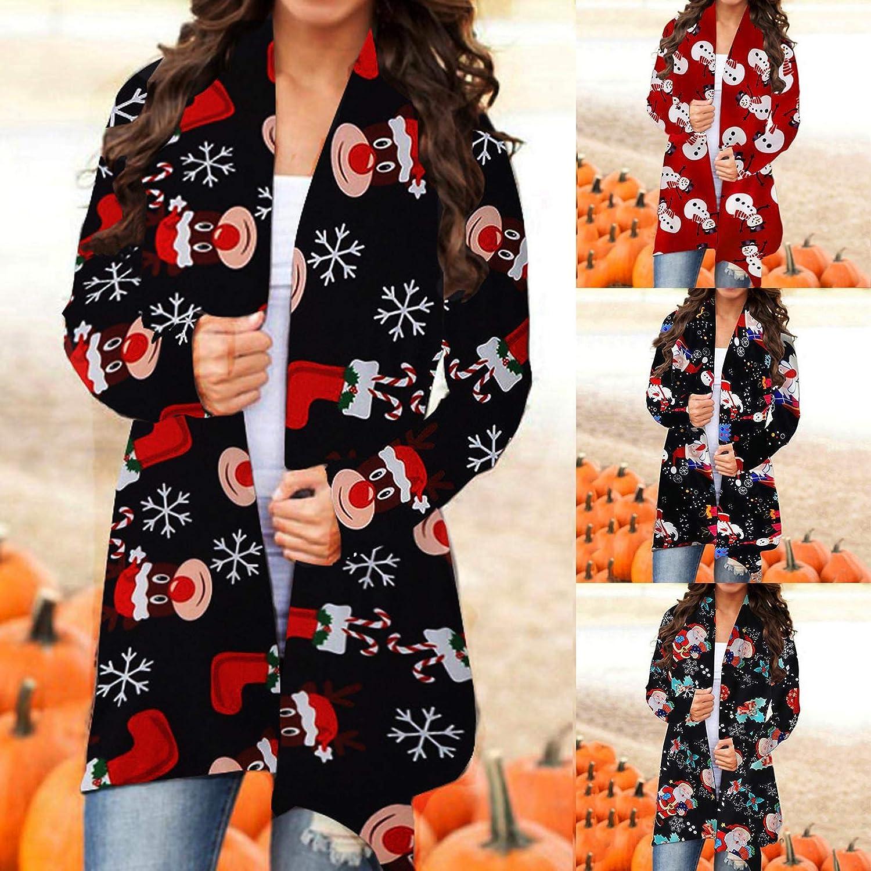 Sweaters for Women Winter,Wamajoly Women's Long Sleeve Soft Open Front Knit Sweater Cardigan