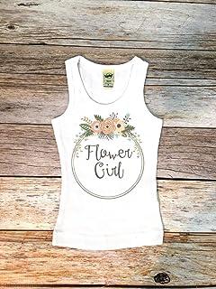 58071d237e1 Flower girl shirt Flower girl tank top