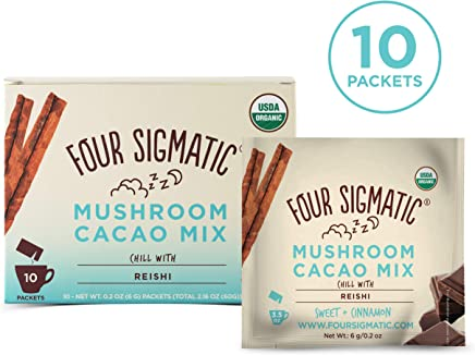 FOUR SIGMATIC Mushroom Hot Cacao Mix with Reishi (10 Packets), 6g