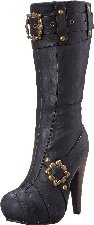 Ellie shoes Women's 426-Aubrey Motorcycle Boot