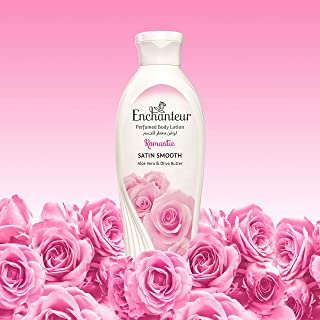 Enchanteur Romantic Perfumed Body Lotion, 250ml, with Aloe Vera & Olive Butter for Satin Smooth Skin