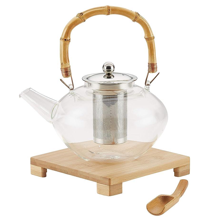 BonJour 47952 Zen Borosilicate Glass Teapot, 1 Piece,
