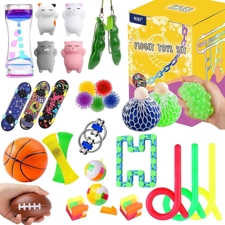 KIEI 30 Pack Fidget trust Toys for Stress Set Sensory Same day shipping Bundle