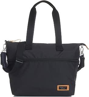 Storksak Travel Luggage Expandable Waterproof Tote Diaper Bag in Black