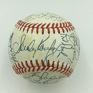 Sandy Koufax Mike Piazza Los Angeles Dodgers Greats Signed Baseball (24) JSA COA