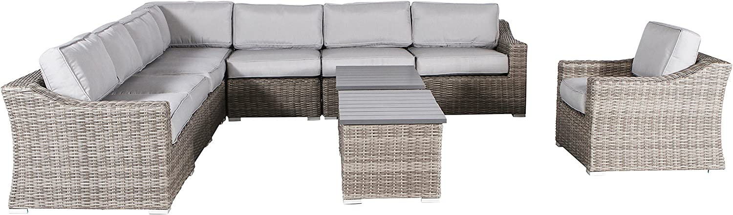 Century Be super welcome Modern Outdoor Marina Collection Set Sofa Wicker Cheap super special price Patio