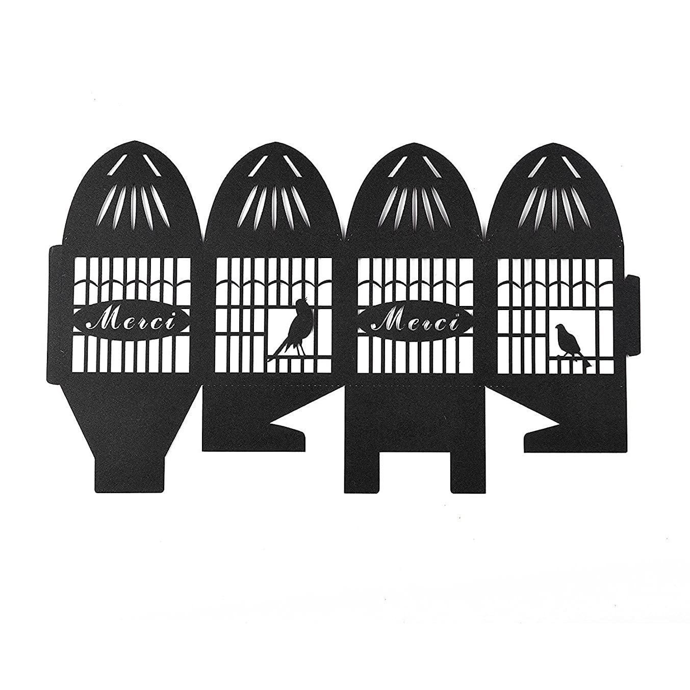 Paris Themed Black Birdcage