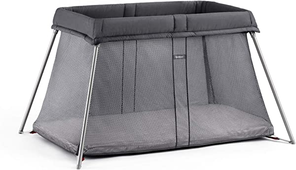BABYBJORN Travel Crib Easy Go Anthracite