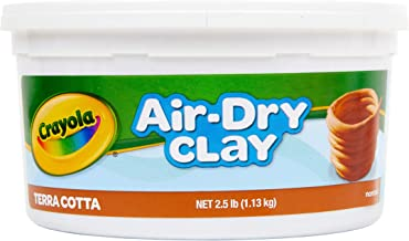 Crayola Air Dry Clay, Terra Cotta, 2.5 Lb Per Pack
