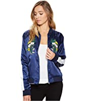 ROMEO & JULIET COUTURE Floral Bomber Jacket