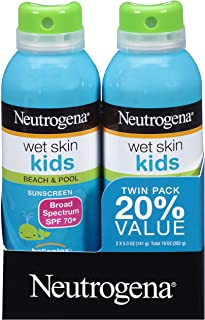 Neutrogena Wet Skin Kids Sunscreen Spray, Water-Resistant and Oil-Free, Broad Spectrum..
