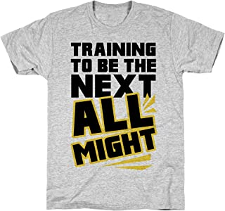 LookHUMAN Training to Be The Next All Might Athletic Gray Men's Cotton Tee