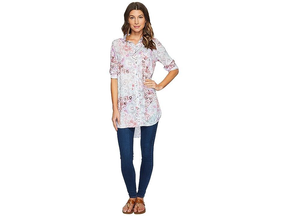 Jag Jeans Magnolia Tunic in Rayon Print (Multi/Watercolor) Women