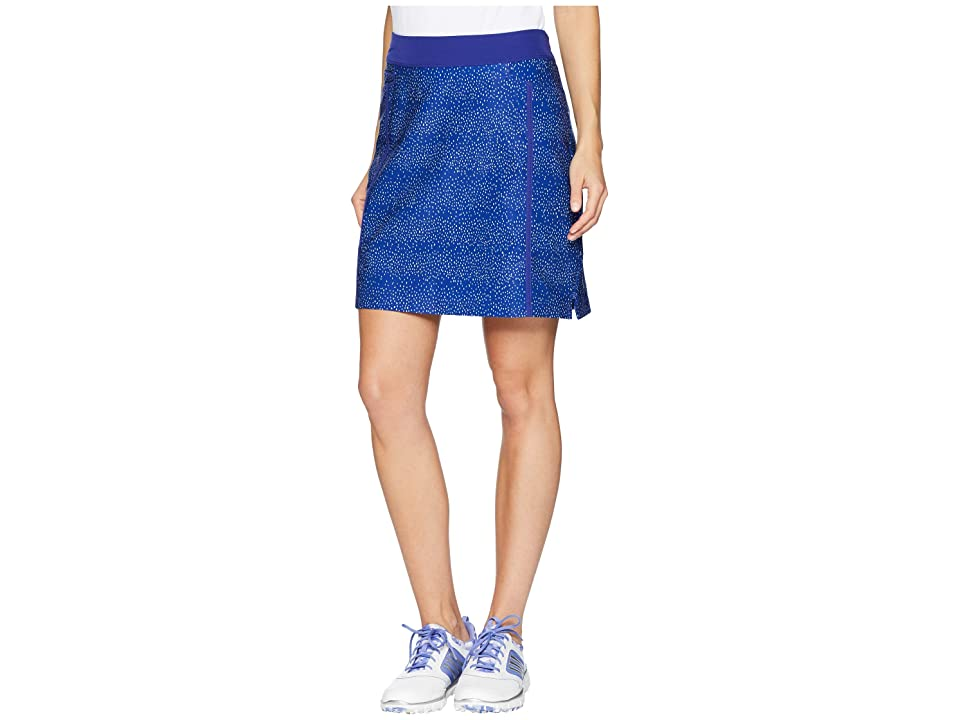 adidas Golf Ultimate Adistar Printed Skort (Real Purple/Clear Lilac) Women