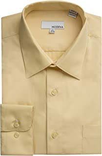 Men's Regular & Contemporary (Slim) Fit Long Sleeve Solid Dress Shirt – Colors (All Sizes)