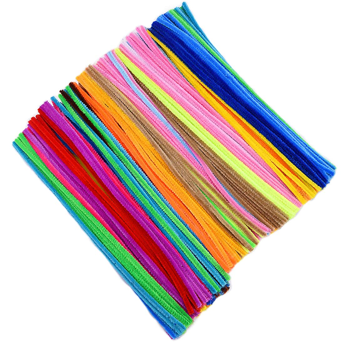Livder 400 Pieces Colored Pipe Cleaners Chenille Stems for DIY Art Craft Handicrafts Decorations (6 mm x 12 inch)