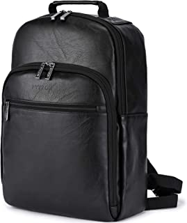 Leather 15.6Inch Laptop Backpack Business Travel Backpack College Bag for Women & Men Gift for boyfriend/father/colleague