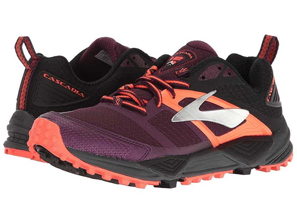 Brooks Cascadia 12 (Pickled Beet/Black/Fiery Coral) Women