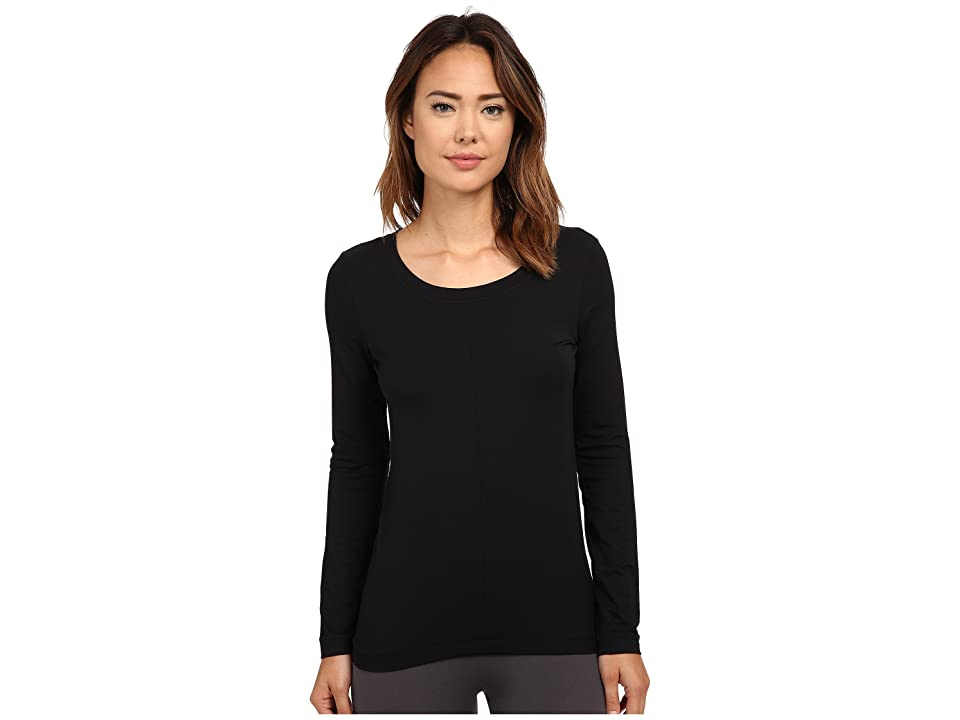 Hanro Yoga Basics Long Sleeve Top (Black) Women