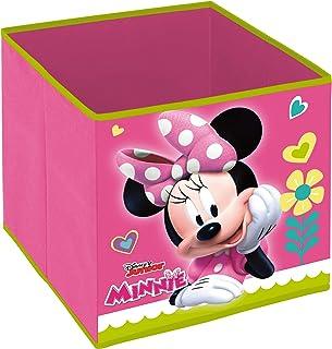 Superdiver Cube Organisateur Pliable en Tissu pour Filles de Disney Minnie Mouse - Boîte de Rangement pour Jouets Compatib...