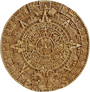 Culture Spot Aztec Solar Calendar Wall Art Relief with Stone Finish | Wall Hanging | wall sculpture | Indoor Placement | Ready to Hang | 17 Inches Diameter