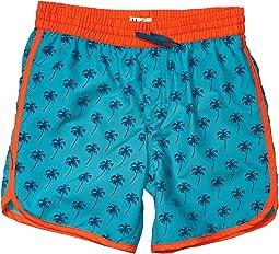 Tropical Palms Swim Shorts (Toddler/Little Kids/Big Kids)