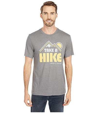 Life is Good Take A Hike Cool Teetm (Slate Grey) Men