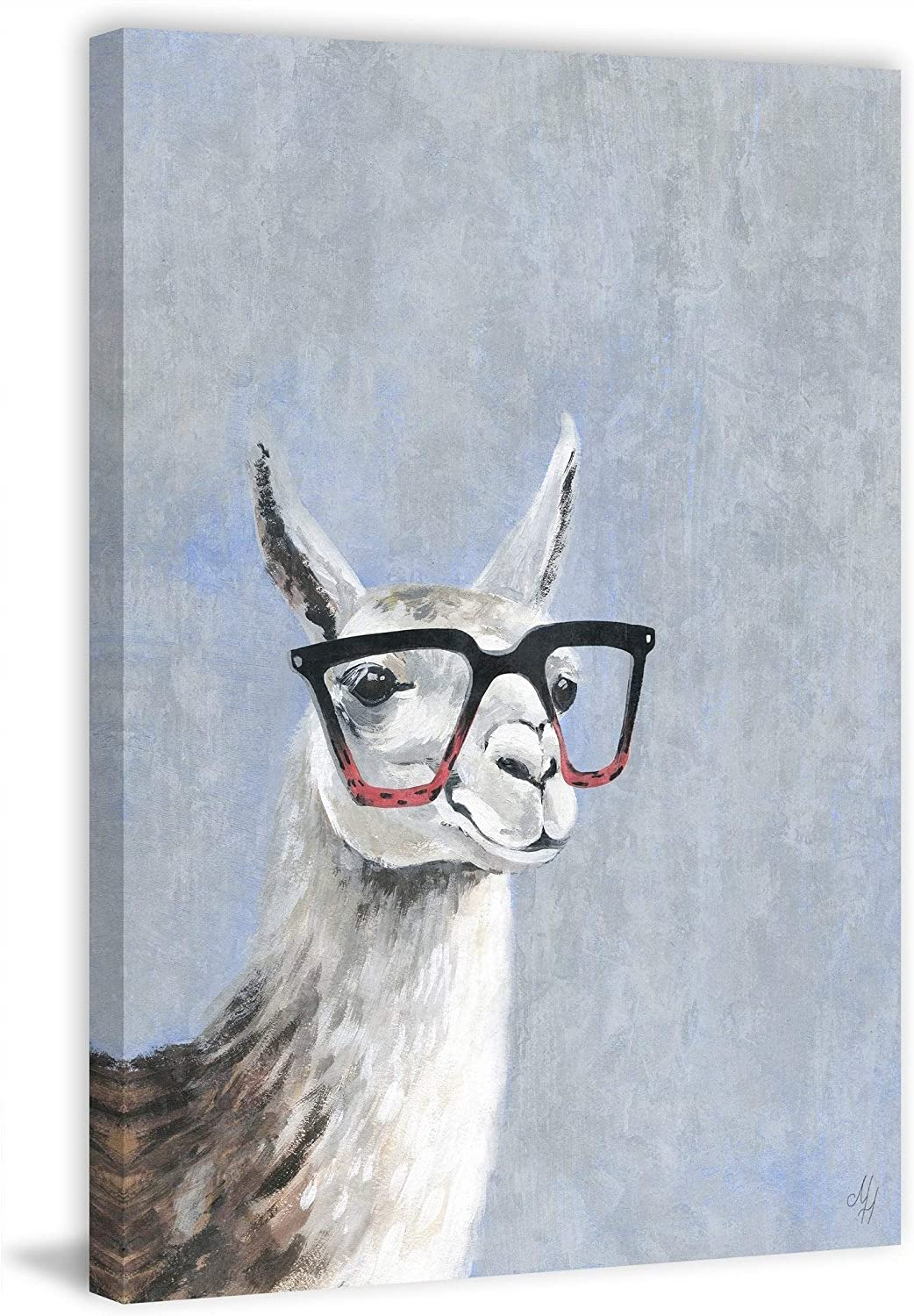 MARMONT HILL - High quality new Handmade Smart Super-cheap Llama 1 Wrapped Canvas on Print IV