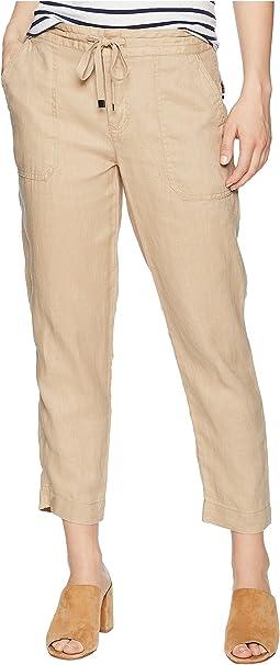 Petite Straight Linen Pants