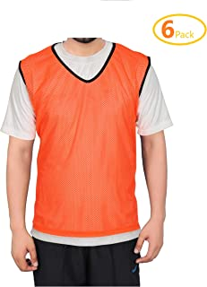 GSI Mesh Sports Training Bibs/Pinnies/Scrimmage/Vests for Soccer, Basketball, Football, Volleyball and Other Team Games