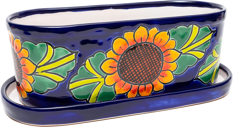 ENCHANTED TALAVERA Ceramic Brand new Brand new Oval Succulent Flower Pot Planter