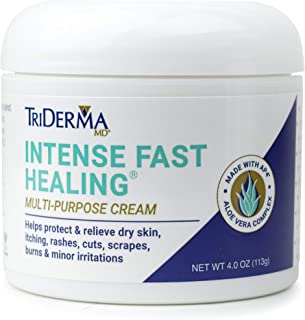 Best TriDerma Intense Fast Healing Cream, Decreases Healing Time for Minor Irritations, Rashes, Scrapes, Cuts 4 Ounces Review
