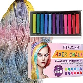 comprar comparacion Cabello Tiza, Tiza de Pelo, Tiza para el Cabello, Coloración temporal Cabello, Hair Chalk Set, 12 Colores Temporal Tiza de...