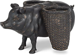 Abbott Collection 27-HAMPER/9730 Pig with Double Baskets