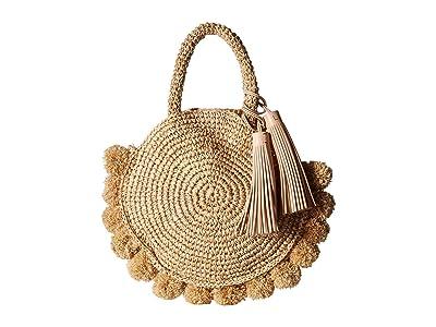 Loeffler Randall Straw Circle Tote (Natural) Tote Handbags