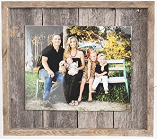 """Rustic Wall Decor Picture Frame, Farmhouse Barnwood, Home Decoration (8"""" x 10"""")"""