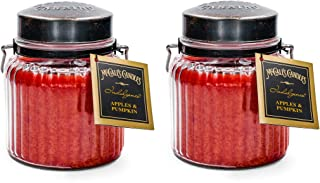McCalls Candles Apples & Pumpkins Indulgence 2-Pack   18 oz. Glass Jar Scented Candles   Fall Scents Double-Wick Candles f...