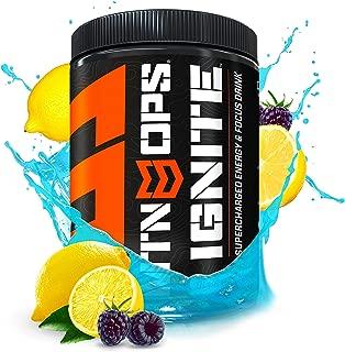 MTN OPS Ignite Supercharged Energy Drink Mix 45-Serving Tub, Blue Raspberry Lemonade
