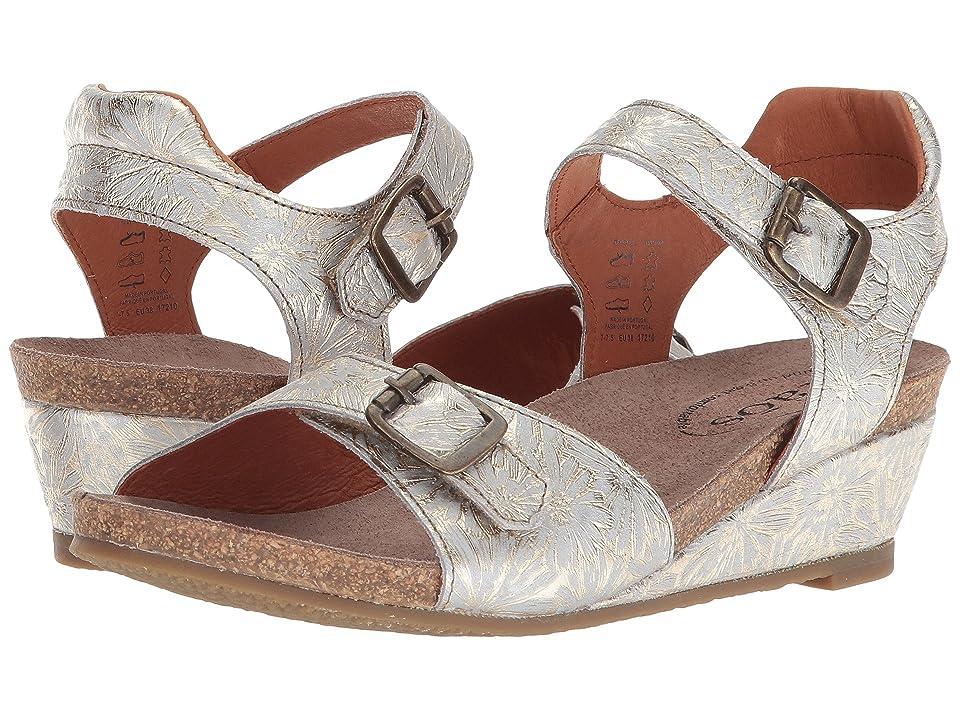 Taos Footwear Traveler (Silver Floral Embossed) Women