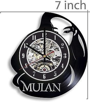 Mulan Vinyl Record Wall Clock, Mulan Movie, Mulan Film, Mulan Artwork, Mulan Gift, Mulan Clock, Mulan Wall Decor, Movie Art, Mulan Decor