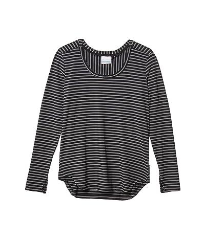 Columbia Firwood Camptm Long Sleeve Tee (Black Medium Stripe) Women