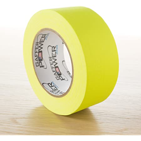 Extra Wide Yellow Gaffer Tape; 4in x 55yd Heavy Duty Pro Grade Gaffer/'s Non-Reflective Multipurpose Tape Waterproof