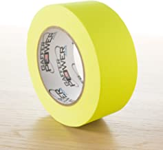 Real Professional Grade Gaffer Tape by Gaffer Power, Made in The USA, Heavy Duty Gaffers Tape, Non-Reflective, Multipurpose. (2 Inches x 30 Yards, Yellow)