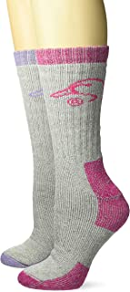 Ducks Unlimited Women's Heavyweight Full Cushion Wool Blend Boot Socks,  Lilac/Fuchsia,  Medium (2-Pair Pack)