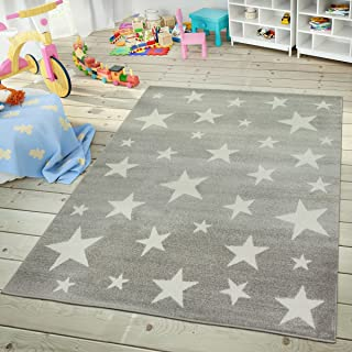 Kids Room Rug Starry Sky Design Star Trend for Playroom...
